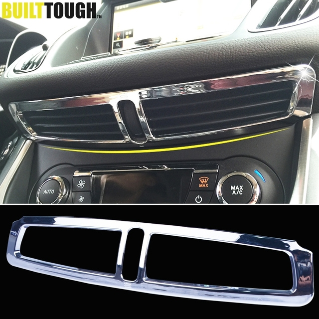 For Ford Escape Kuga 2017 2016 Chrome Front Dashboard Central A C Air