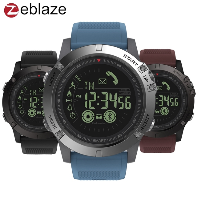 Zeblaze VIBE 3 GMT Two Places All-day Activity Record Sport 33 Month Long Standby Information Reminder Smartwatch Smart Watch