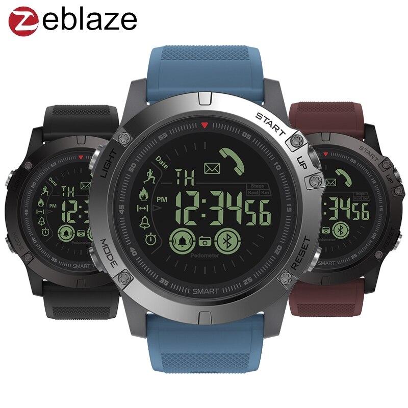 Zeblaze VIBE 3 GMT dos lugares de actividad durante todo el día registro deporte 33 meses larga espera información recordatorio Smartwatch inteligente reloj