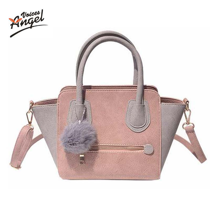2017 Spring Smiley PU Leather Tote Bag Women Trapeze Fashion Designer Handbags High Quality Ladies Bags Vintage Crossbody Bags