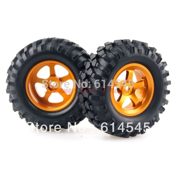 4PCS RC 1/10 Car Climbing Rock Crawler Tires Tyre & Metal Wheel Rim 105G-7006 4pcs 2 2 rubber tyre tires ax 3021 for rc 1 10 rc off road climbing rock crawler truck