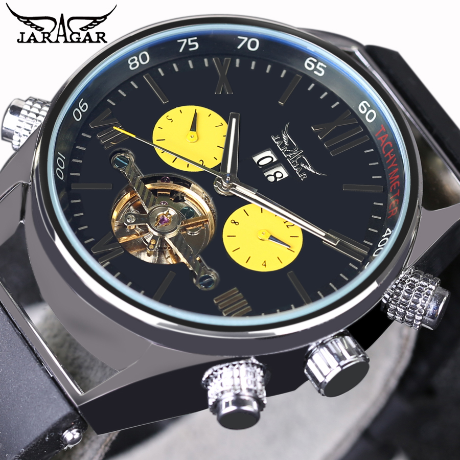 2016 New Men Sports Watches Automatic Mechanical Wrist Watches Luxury Top Brand JARAGAR Automatic Flying Tourbillon Watches