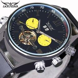 2016 nowych mężczyzna sportów zegarki automatyczne mechaniczne zegarki na rękę luksusowa tarcza JARAGAR automatyczne latający tourbillon marki zegarki