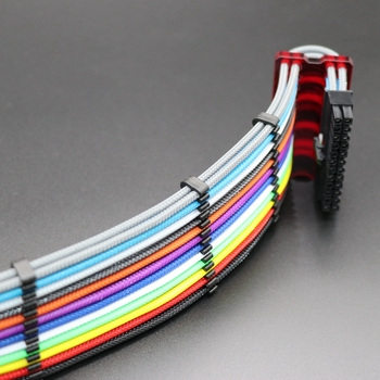 Customized 180 Degree 24Pin ATX Power Extension Cable