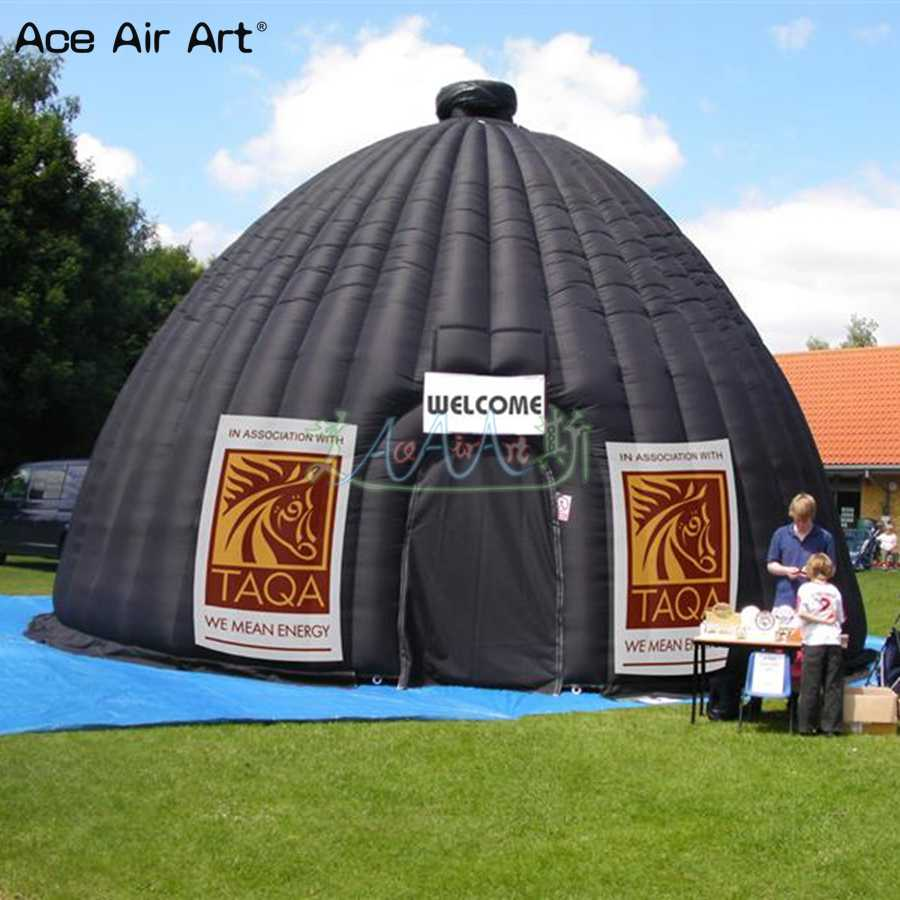 Newly design inflatable planetarium projection dome,movie screen  astronomical cinema dome tent building for display and shows