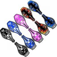 Adult Children Skateboard Flash Two wheel Long Board Brontosaurus Skateboard Snake Board Rocket Board