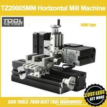TZ20005MM 60 Вт Металлический Мини горизонтальный фрезерный станок/60 Вт, 12000 об/мин большая мощность горизонтальный фрезерный станок