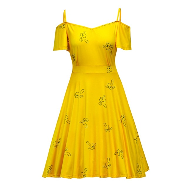 Bright yellow summer dresses