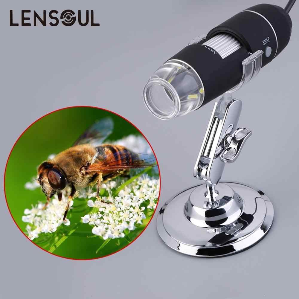 Lensoulปฏิบัติอิเล็กทรอนิกส์5MP USB 8 LEDกล้องดิจิตอลกล้องจุลทรรศน์Endoscopeแว่นขยาย50X ~ 500Xขยายวัด