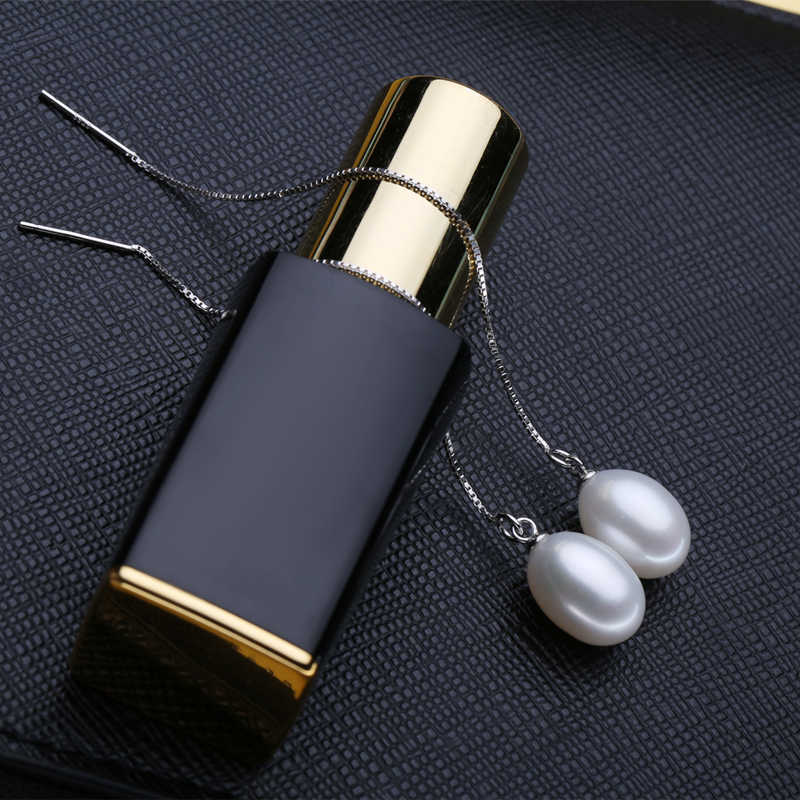 FENASY Trendy Pearl Jewelry Wedding Engagement Jewelry sets Natural Pearl Pendant Necklace women earrings fashion Long Earrings