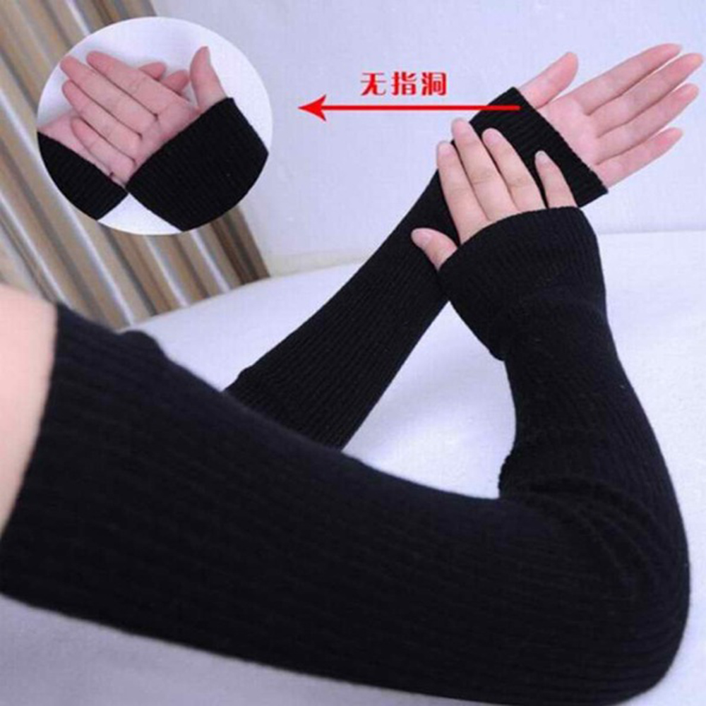 40cm 50cm 60cm Longer Cashmere Arm Glove Women Gloves Hot Sale Long Desige Woolen Warm Spring Antumn Winter Lady Sleeve