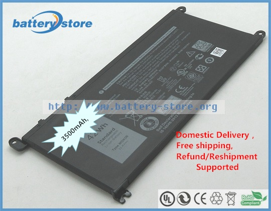 LIDUO WDX0R Battery for Dell Inspiron 13 5368 5378 5379 7368 7378 Inspiron 14 7460 Inspiron 15 5565 5567 5568 5578 7560 7570 7579 7569 Inspiron 17 5765 5767-42Wh//11.4V