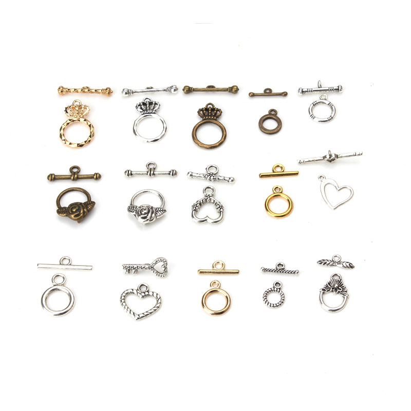 5set/lot 14 style OT Clasps Buckle Connectors Fit Bracelet Necklace For DIY Jewelry Making Findings