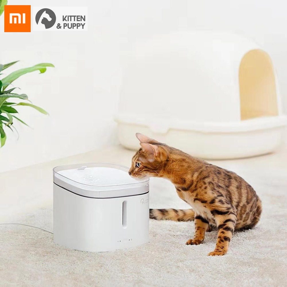 Original Xiaomi Kitten Puppy Pet Water Dispenser Smart Dog Cat Electric Drinking Bowl Fountain Automatic Cat Living Water 2L