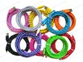 New Colorful 3m 10ft Micro 5P Braided Fabric Sync Data Cable USB Charger For Samsung S S2 S3 S4 Note Note2 All Android Phone