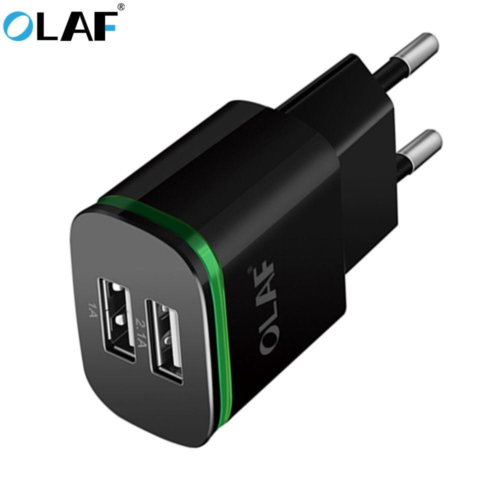 Olaf Usb-Charger Eu-Plug 2-Ports 5v 2a Huawei Xiaomi Samsung Micro-Usb/type-C for Led-Light