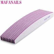 10Pcs Grey 100/180 Grit Nail File Buffer Block Nail Art Sanding Buffer Files  For Salon Manicure UV Gel Tips Washable Files Nail недорого