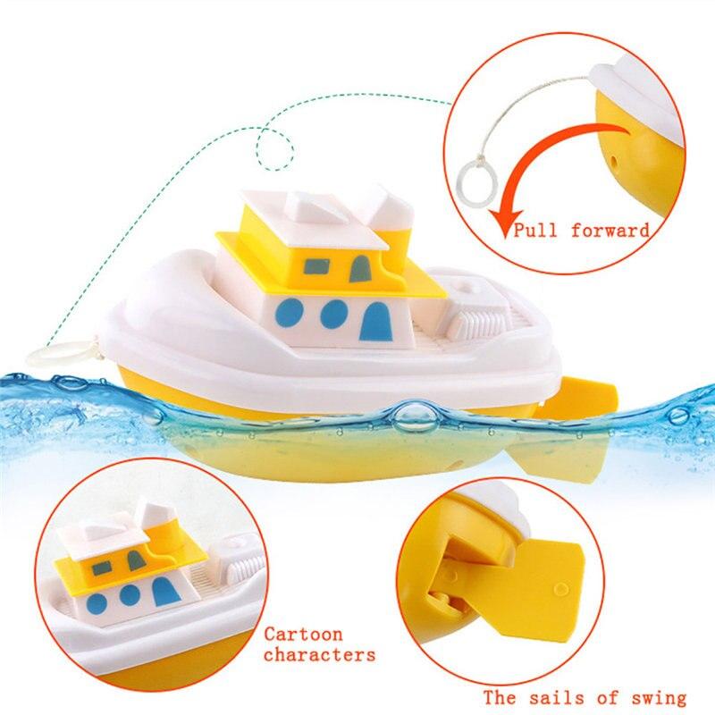 Swim Tortoise Fish Ship Bath Toys Children Baby Bath Toy Water Toy Swimming Chain Clockwork Aqua Play Water Kid Shower Toys 25