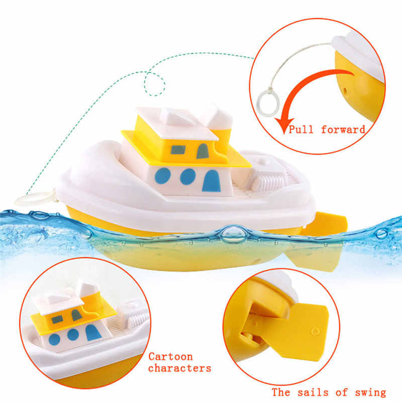 Swim Tortoise Fish Ship Bath Toys Children Baby Bath Toy Water Toy Swimming Chain Clockwork Aqua Play Water Kid Shower Toys 25