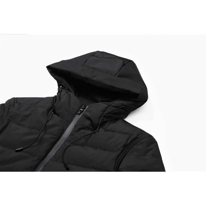 Enjeolon ブランド冬パーカー綿パッド入りのジャケット男性防風パーカー男厚いキルティング Puls サイズ 3XL コート男性 MF0008