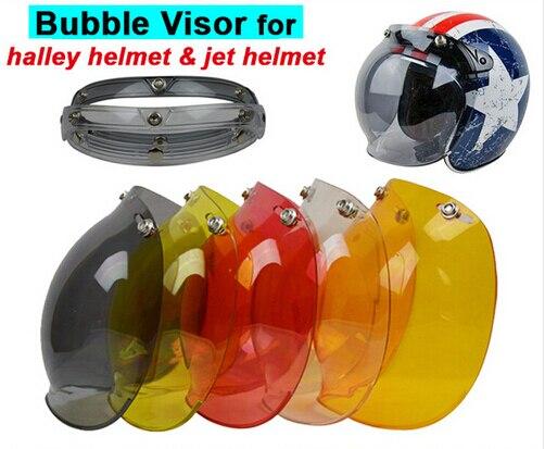 3-snap Открытым Лицом Шлем Козырек Старинные Ретро Мотоциклетный Шлем Пузырь Щит Козырек Объектив Пик для biltwell шлемы