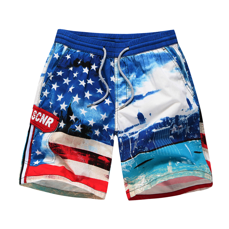 Microfiber Weed Leaves Quick Dry Swimming Trunks Mens Shorts Sporty