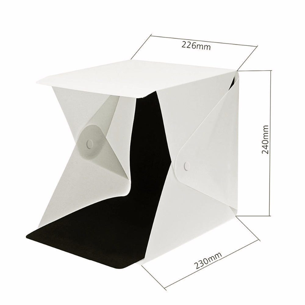 lowest price SOONHUA Portable Folding Lightbox Photography Studio Softbox LED Light Soft Box Tent Kit for Phone DSLR Camera Photo Background