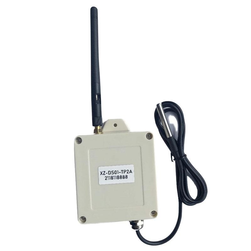 Freeshipping 5km wireless lora sensor probe temperature sensor ds18b20 digital temperature acquisition transmitter logger