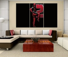 One Set 3 Piece Canvas Painting Home Decorative Wall Framework Or Frameless Movie Deadpool 2 Poster Modern HD Printing Type