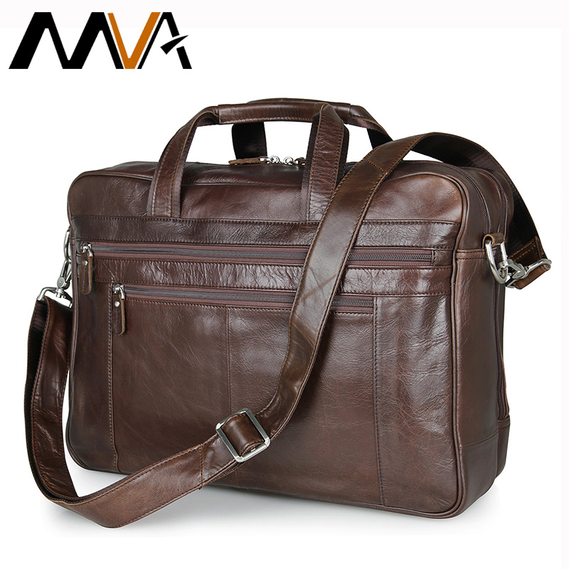 MVA Genuine Leather Men Bag Shoulder Crossbody Bags Business Men Briefcase Laptop Bag 16 inch Handbag Totes Fashion Lawyer Bags цена
