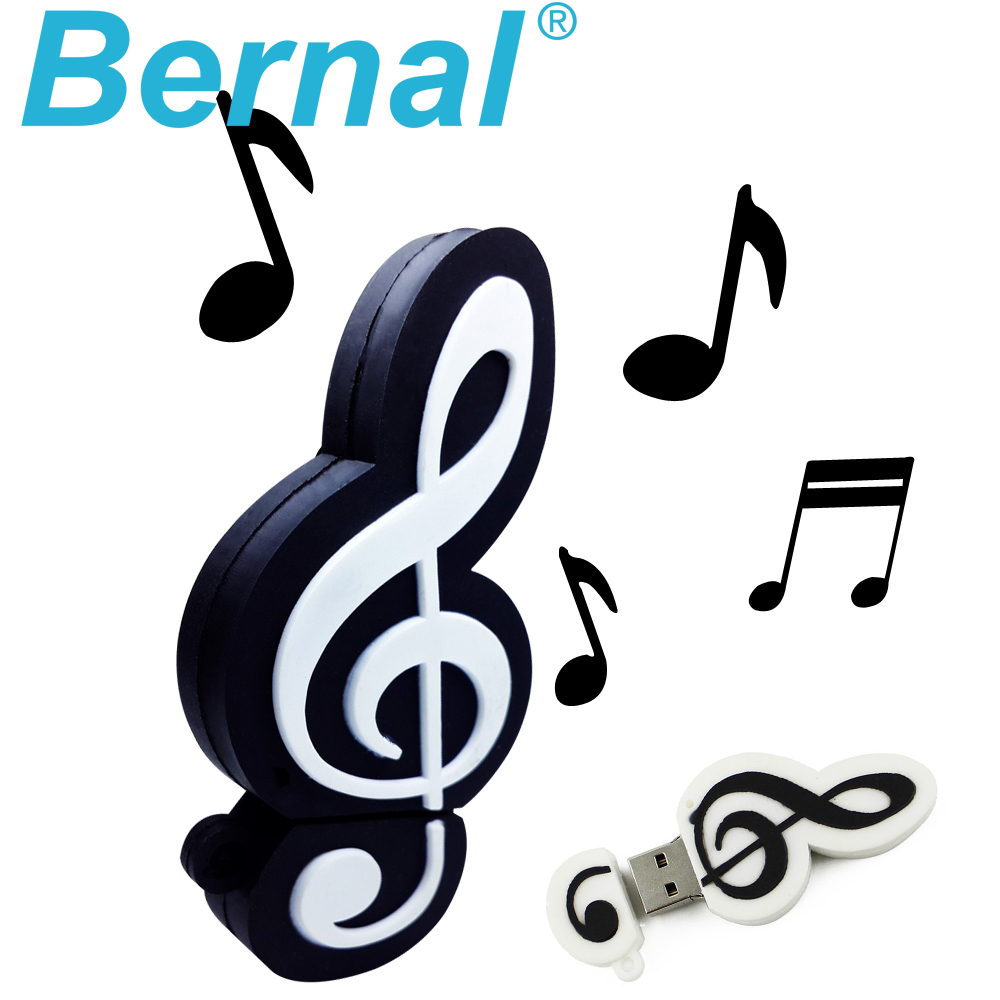 2016 originality gifts usb flash pendrive 8gb 4gb 16gb 32gb 64gb silicone usb stick 2.0 high speed musical note usb flash drives