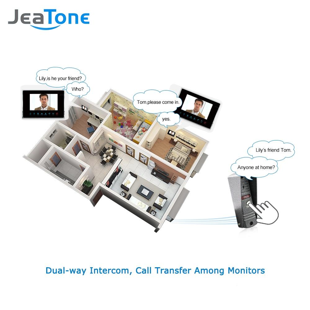 JeaTone 7 '' Проводной видеодомофон 1200TVL - Безопасность и защита - Фотография 3