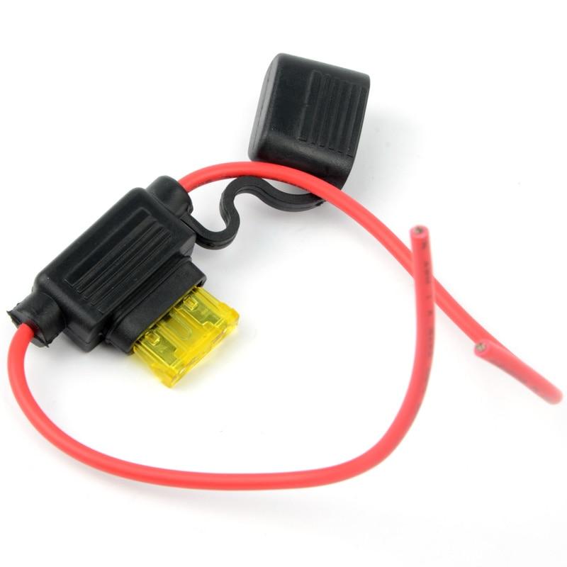 1 PC 20A Middle  Low Profile Case Fuse Holder Blade Waterproof inline  G0247 P0.3 40a blade contact fuse link base holder nt00 500v 120ka 660v 50ka