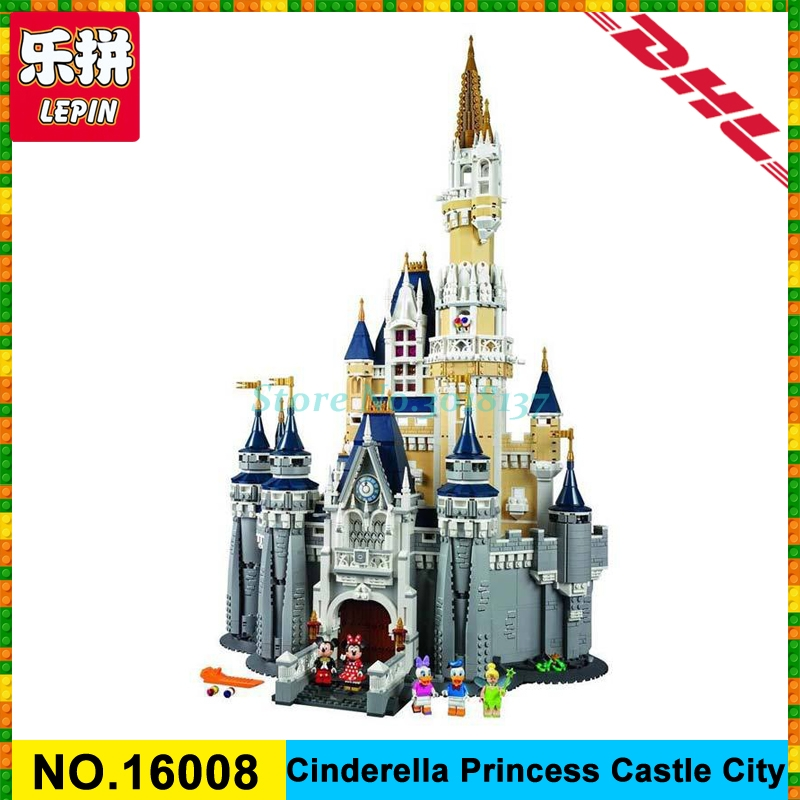 LEPIN 16008 Cinderella Princess Castle City Model Building Block Kid Toys Gift Compatible 71040 for children day's gift in stock lepin 02012 city deepwater exploration vessel 60095 building blocks policeman toys children compatible with lego gift kid sets