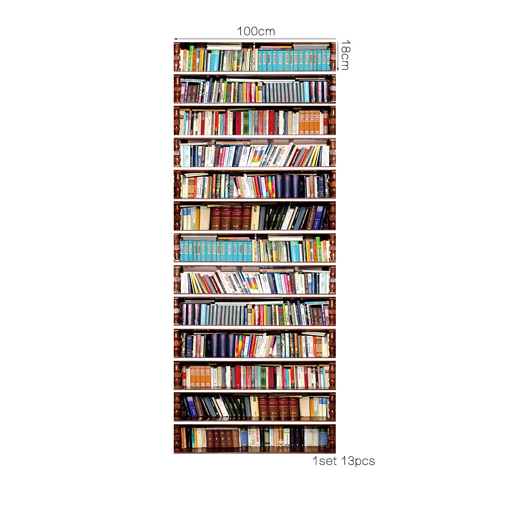 Image 2 - 13pcs/set Creative Books shelf Stairs Sticker Stair Decals Wall Sticker House Vinyl Art Home Decoration For Kids Rooms Stickers-in Wall Stickers from Home & Garden