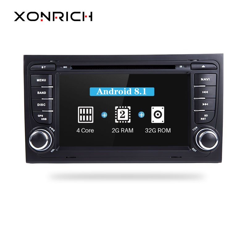 Xonrich 2 Din Android 8.1 Car Multimedia Player per Audi A4 S4 B6 B7 RS4 8E 8 H 8F B9 seat Exeo 2002-2008 DVD GPS AutoRadio BT 4g