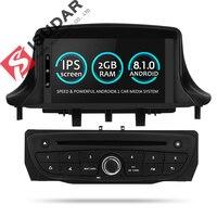 Isudar автомобильный мультимедийный плеер два Din Android автомобиль dvd плеер 8,1 для Renault/Megane 3 Fluence автомобиля радио FM GSP 4 Core оперативная память 2 Гб