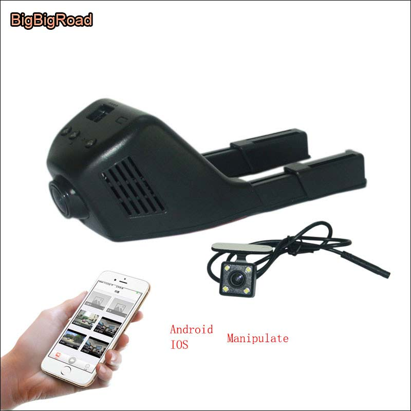 BigBigRoad For LIFAN 530 Car Parking Camera APP control Car Wifi DVR FHD 1080P G-sensor WDR Dual Lens Car Black Box camcorder bigbigroad for toyota sequoia car parking camera app control car wifi dvr video recorder dual lens car black box camcorder