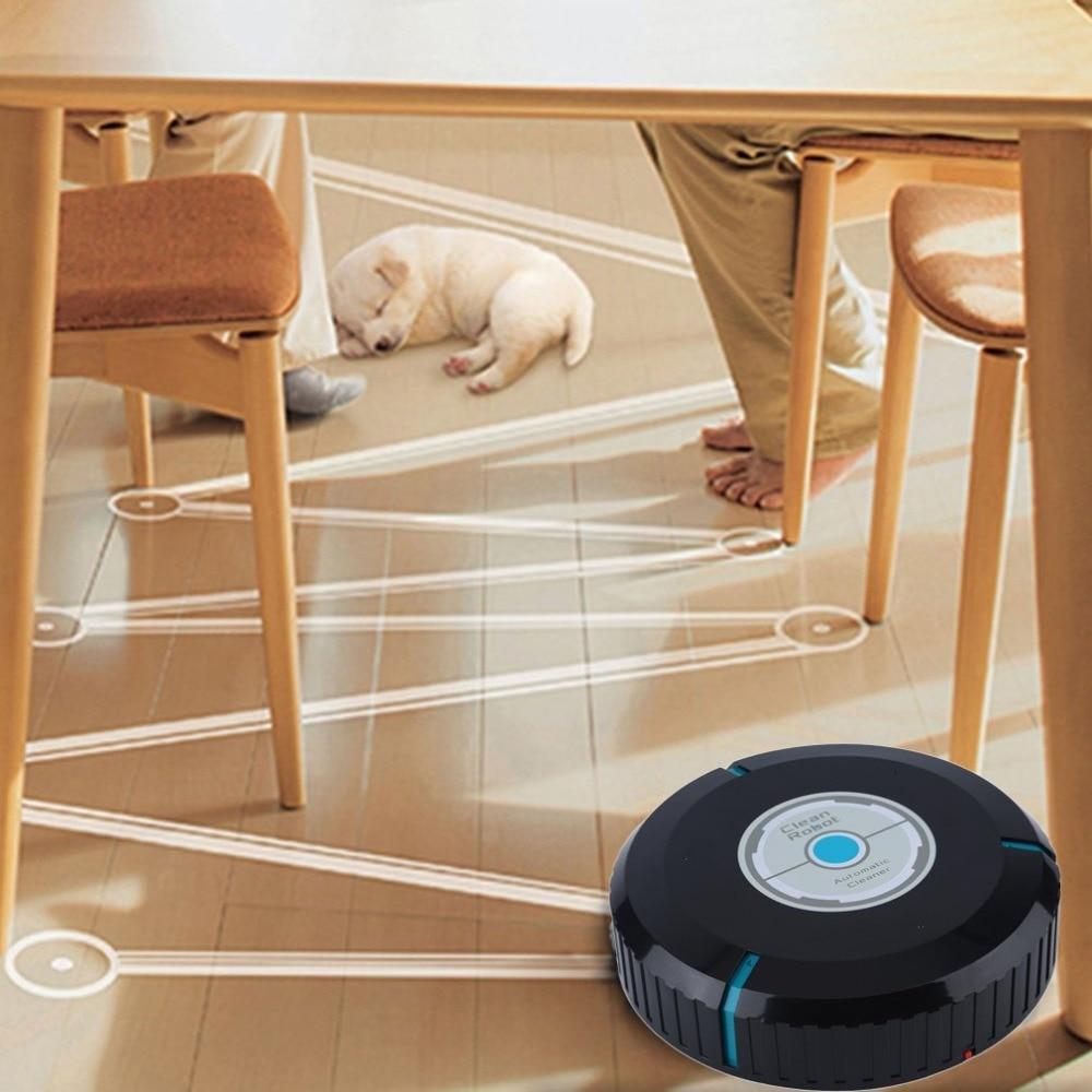 Drop Shipping Balayage Robot Microfibre Intelligent Robotique Vadrouille Poussière Cleaner Automatiquement Ménage Propre Outil Étage Coins Recoins dans Main Push Balayeuses de Maison & Jardin