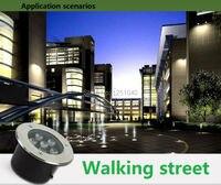 Krajobraz Oświetlenie LED Underground Lampa DC 12 V 24 V 1 W 3 W 5 W 6 W 7 W 9 W 12 W 15 W 18 W IP65 Oświetlenie Zewnętrzne oświetlenie CE ROHS Plaza