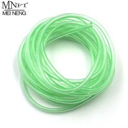 MNFT 2 Meters/Bag Plastic light green Luminous tube fly tying riging tube Fluorescence lead fish Fishing Tackle Fitting