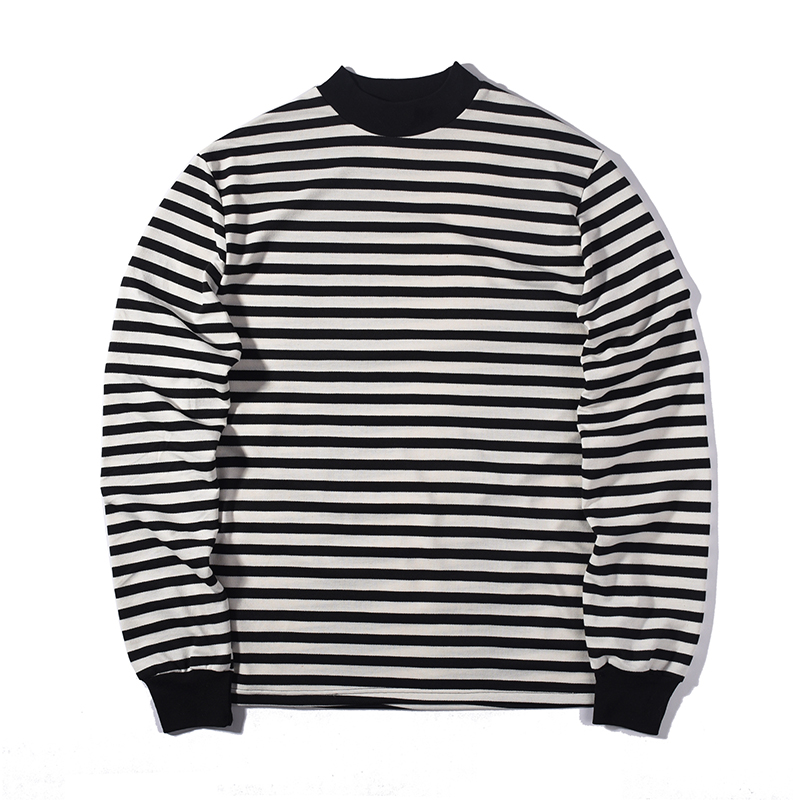 black and white striped shirt mens long sleeve