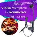 Высокое качество нагрудные конденсаторный мандолины скрипки микрофон музыкальный инструмент микрофон для Sennheiser беспроводной системы трс 3.5 мм разъем