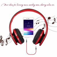 Elivebuy Foldable Wireless Stereo Bluetooth Headphones Bluetooth Earphone With Mic Auriculares Bluetooth For Cellphone PC Laptop