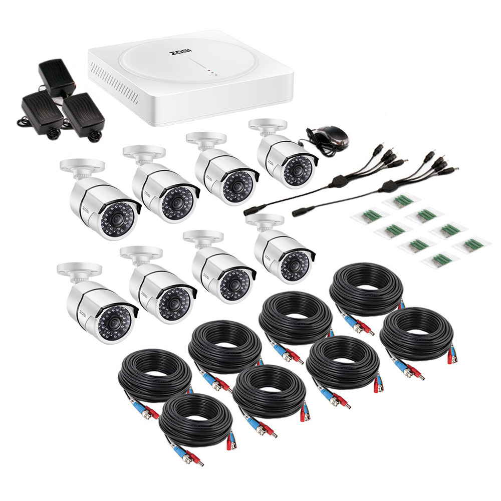 8CH 5MP H.265+ Security Surveillance Camera System (2TB HDD) 1