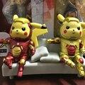 13 CM Pikachu Pikachu Cosplay Homem De Ferro Figura de Ação Figuras de Brinquedo Anime Monstro de Bolso PVC Dolls Kids Brinquedos para Meninos presente de Aniversário presente