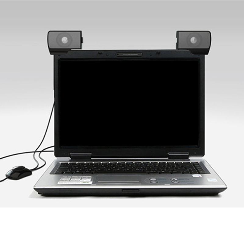 Vapeonly USB Stereo Mini Altoparlante Portatile Clip-on Line Controller Soundbar per Notebook PC Del Computer Portatile Del Telefono MP3 del Giocatore di Musica altoparlante