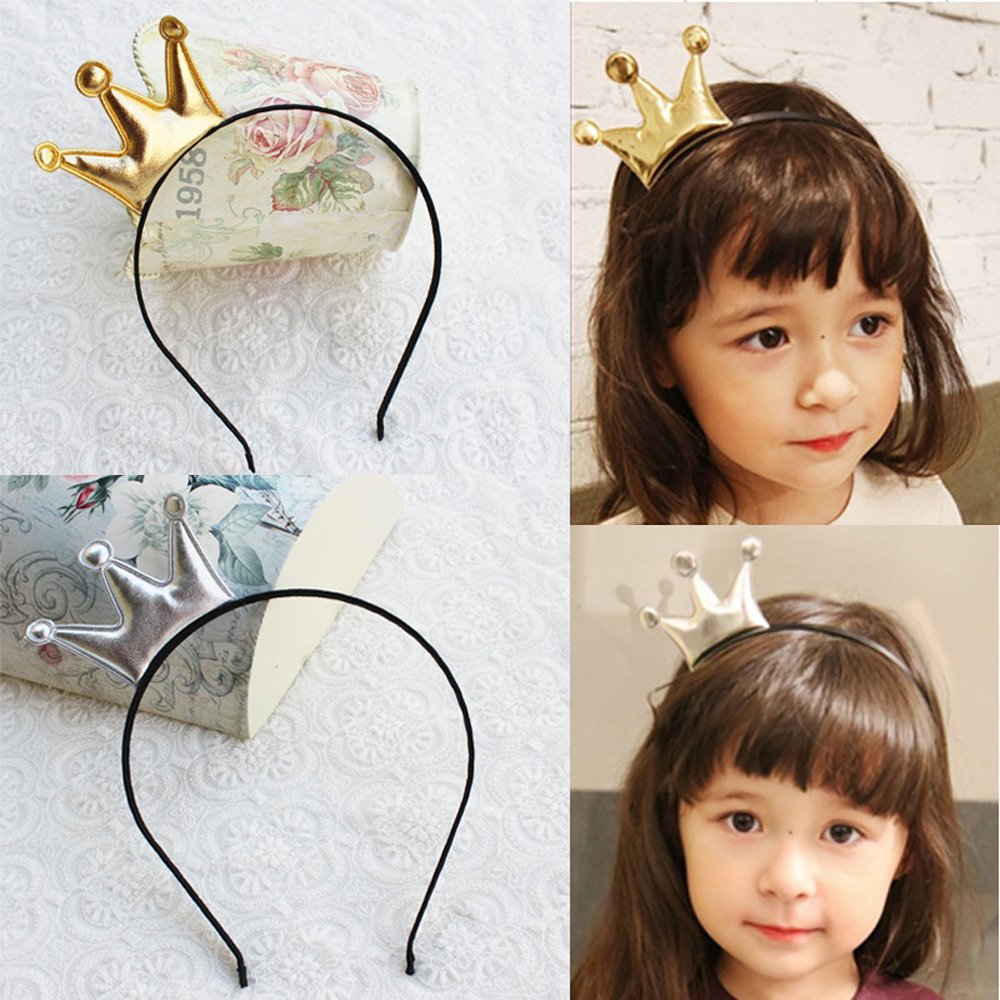 10pcs Children Crown Headbands Newborn Baby Gold S Princess Tiara Headwear Hairband Cute Star Headdress Hair Accessories