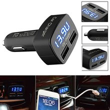 New 4 in 1 Car Charger Dual USB DC 5V 3.1A Universal Adapter