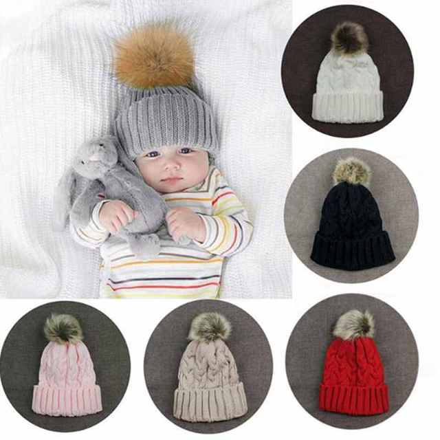 Bonbons Couleurs Hiver Chaud Femmes Filles Chapeau Laine À Tricoter Chapeau  Occasionnel bébé Enfants Crochet Chapeaux 168a8ff7c5d